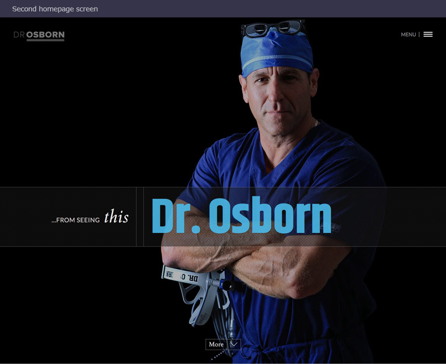 Columbus medical web design company's image of 2nd homepage image for Dr. Osborn