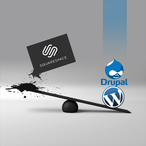 squarespace drupal and wordpress logos by Columbus website design firm Sevell